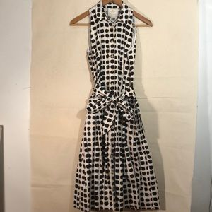 KATE SPADE A Line Classic Printed Dress with Tie